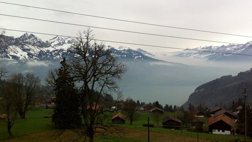 Vistas desde Beatenberg Meditation Center, Suiza.