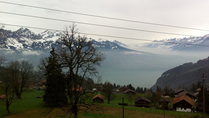 Vistas desde Beatenberg Meditation Center, Suiza.