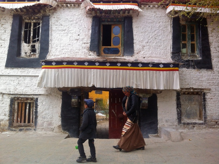 Complejo monástico cerca de Lhasa, Tíbet.